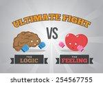 logic versus feeling   Shutterstock .eps vector #254567755