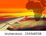 Wing Airplane On Africa Map...
