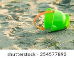 toy bucket on a beach | Shutterstock . vector #254577892