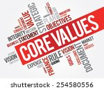 core values word cloud ... | Shutterstock .eps vector #254580556