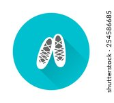 flat icon of white soft shoes...   Shutterstock .eps vector #254586685