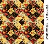 creative seamless patchwork... | Shutterstock .eps vector #254589256