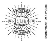 hipster emblem about fighting...   Shutterstock .eps vector #254590888