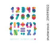 set of numbers and symbols ... | Shutterstock .eps vector #254595022