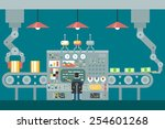 conveyor robot manipulators... | Shutterstock .eps vector #254601268
