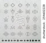 set of minimal monochrome... | Shutterstock .eps vector #254602228