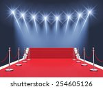 red carpet event with... | Shutterstock . vector #254605126