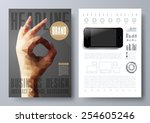 template for brochures  flyers  ... | Shutterstock .eps vector #254605246
