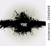 grunge banner with an inky... | Shutterstock .eps vector #25460668