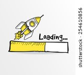 loading bar with a doodle...