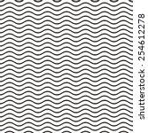 black seamless wavy line... | Shutterstock .eps vector #254612278