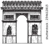 france vector logo design...   Shutterstock .eps vector #254612815