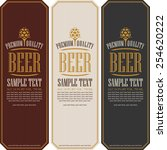 set labels for beer in a retro... | Shutterstock .eps vector #254620222