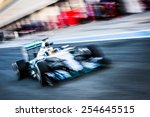 Small photo of JEREZ, SPAIN - FEBRUARY 2ND: Lewis Hamilton testing his new Mercedes W06 F1 car on the first Test at the Jerez Circuit in Jerez, Andalucia, Spain on Feb. 2, 2015.
