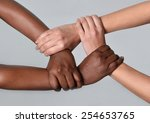 white caucasian female hands... | Shutterstock . vector #254653765