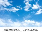 clouds in the blue sky | Shutterstock . vector #254666506