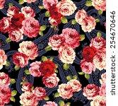 pattern of rose  | Shutterstock .eps vector #254670646
