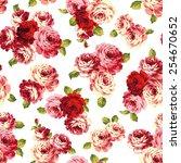 pattern of rose  | Shutterstock .eps vector #254670652