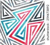 geometric spiral seamless... | Shutterstock . vector #254673892