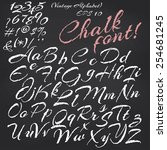 vector alphabet. hand drawn... | Shutterstock .eps vector #254681245