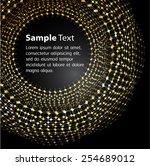 dark gold black light abstract...   Shutterstock .eps vector #254689012