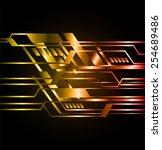 dark orange gold light abstract ... | Shutterstock .eps vector #254689486