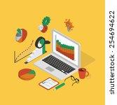 isometric illustration of... | Shutterstock . vector #254694622