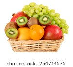 Assortment Of Fruits In Basket...