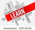 learn word cloud  education... | Shutterstock .eps vector #254716156