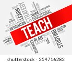 teach word cloud  education... | Shutterstock .eps vector #254716282