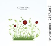 spring floral background with... | Shutterstock .eps vector #25471867