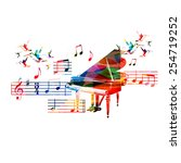 Colorful Piano Design With...
