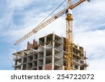 high rise building under... | Shutterstock . vector #254722072