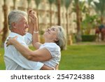 happy mature couple in love... | Shutterstock . vector #254724388