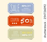 price tags design  vector... | Shutterstock .eps vector #254726092