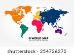 map of the world with countries ... | Shutterstock .eps vector #254726272