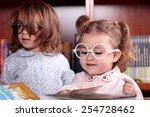 beautiful caucasian girl in the ... | Shutterstock . vector #254728462