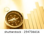 diagram concept with compass... | Shutterstock . vector #254736616