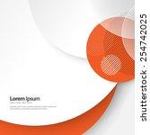 geometric circles background   Shutterstock .eps vector #254742025