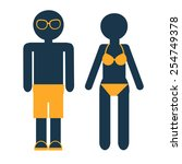vector flat circle icons set of ... | Shutterstock .eps vector #254749378