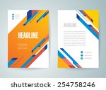 flyer brochure design template... | Shutterstock .eps vector #254758246