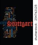 stuttgart word cloud. vertical... | Shutterstock .eps vector #254762125