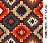 vector seamless ethnic pattern... | Shutterstock .eps vector #254765002