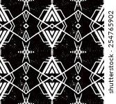 vector seamless ethnic pattern... | Shutterstock .eps vector #254765902