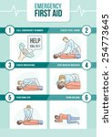 emergency first aid cpr... | Shutterstock .eps vector #254773645