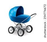 baby stroller isolated on white ... | Shutterstock .eps vector #254776672