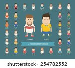 set of national soccer team... | Shutterstock .eps vector #254782552