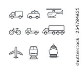 transportation and vehicles... | Shutterstock .eps vector #254784625
