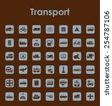 set of transport simple icons | Shutterstock .eps vector #254787106