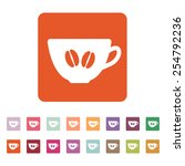 the coffee and cup icon. coffee ... | Shutterstock .eps vector #254792236